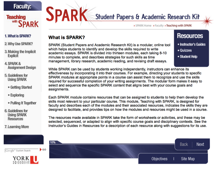 Guidelines-spark-screenshot